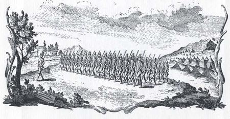 Parata di un reggimento di infanteria veneta