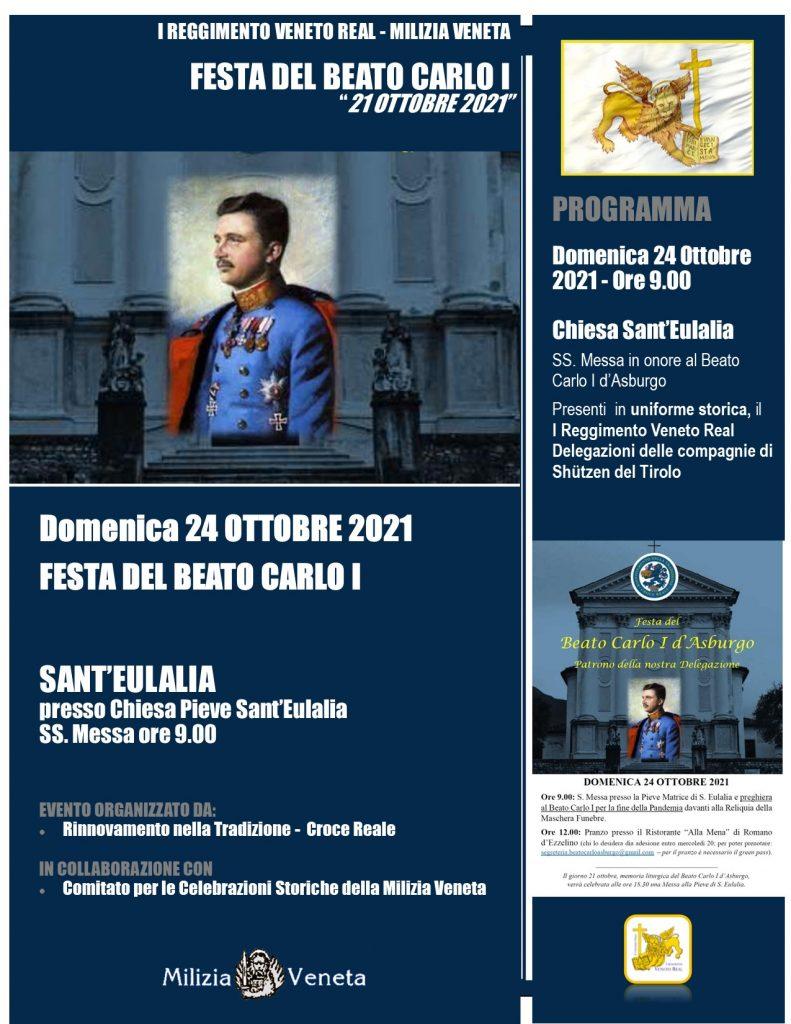 Festa del Beato Carlo I – 24.10.2021